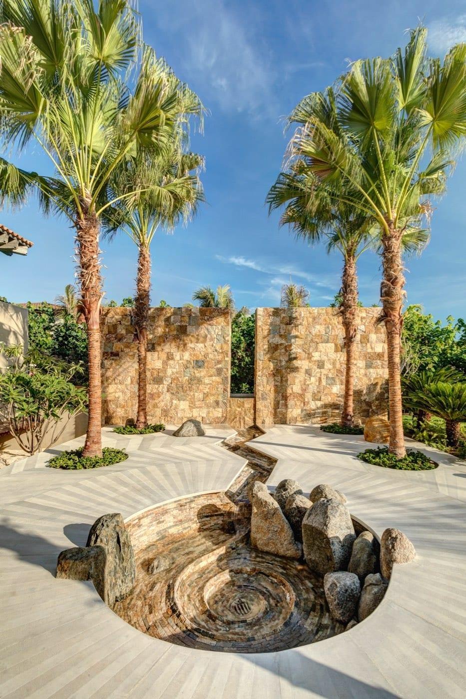 Casa Koko Entrance Fountain Day