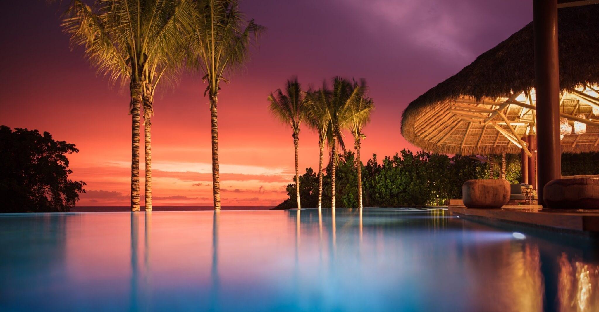 Casa Koko Pool Palapa Sunset