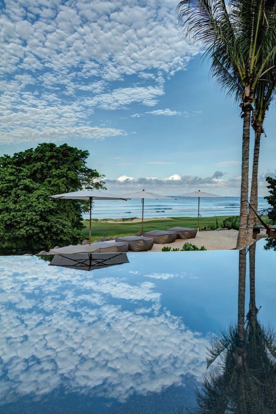 Casa Koko Reflection Over Pool Day
