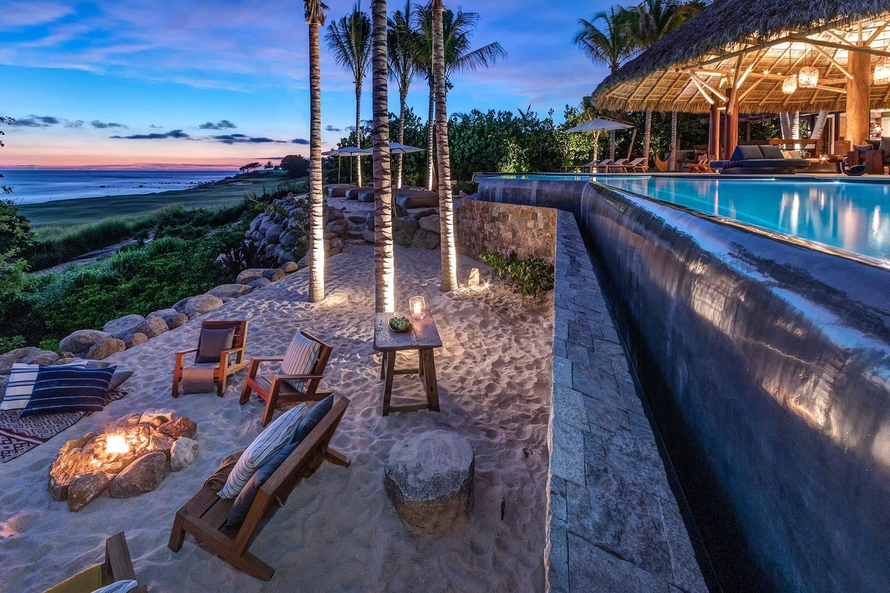 Casa Koko Sand Terrace Firepit Sunset
