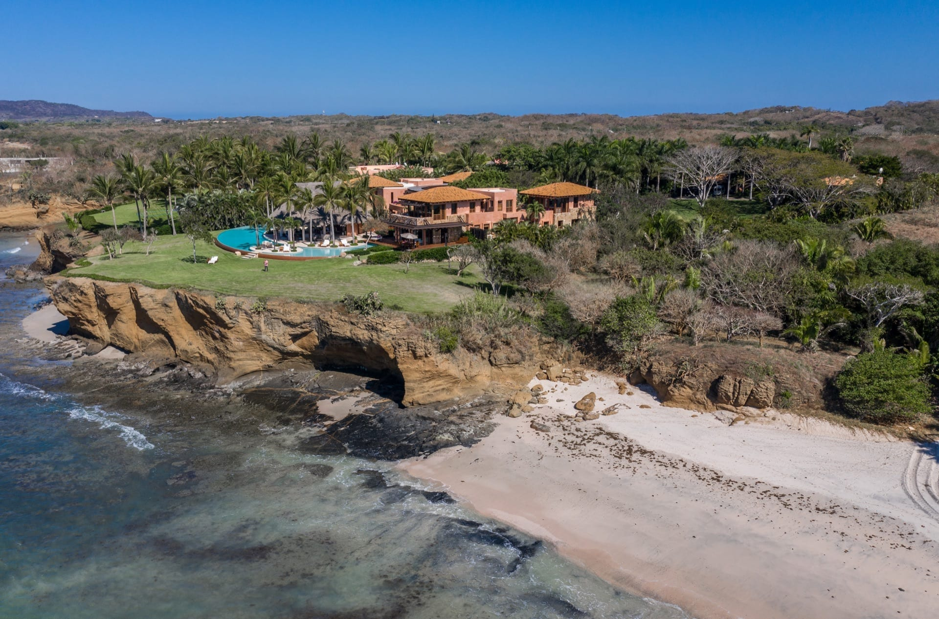 Casa Tres Soles Punta Mita Drone